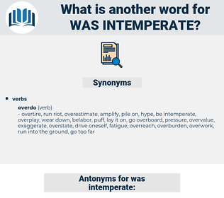 was intemperate, synonym was intemperate, another word for was intemperate, words like was intemperate, thesaurus was intemperate