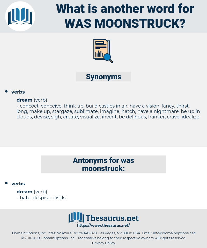was moonstruck, synonym was moonstruck, another word for was moonstruck, words like was moonstruck, thesaurus was moonstruck