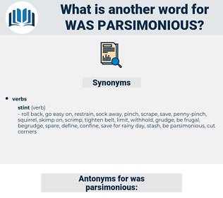 was parsimonious, synonym was parsimonious, another word for was parsimonious, words like was parsimonious, thesaurus was parsimonious