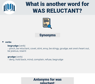 was reluctant, synonym was reluctant, another word for was reluctant, words like was reluctant, thesaurus was reluctant