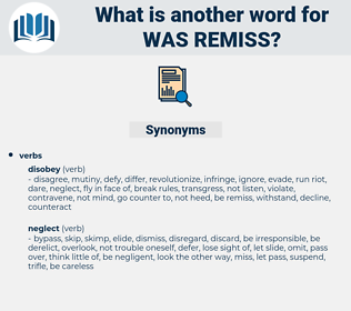 was remiss, synonym was remiss, another word for was remiss, words like was remiss, thesaurus was remiss