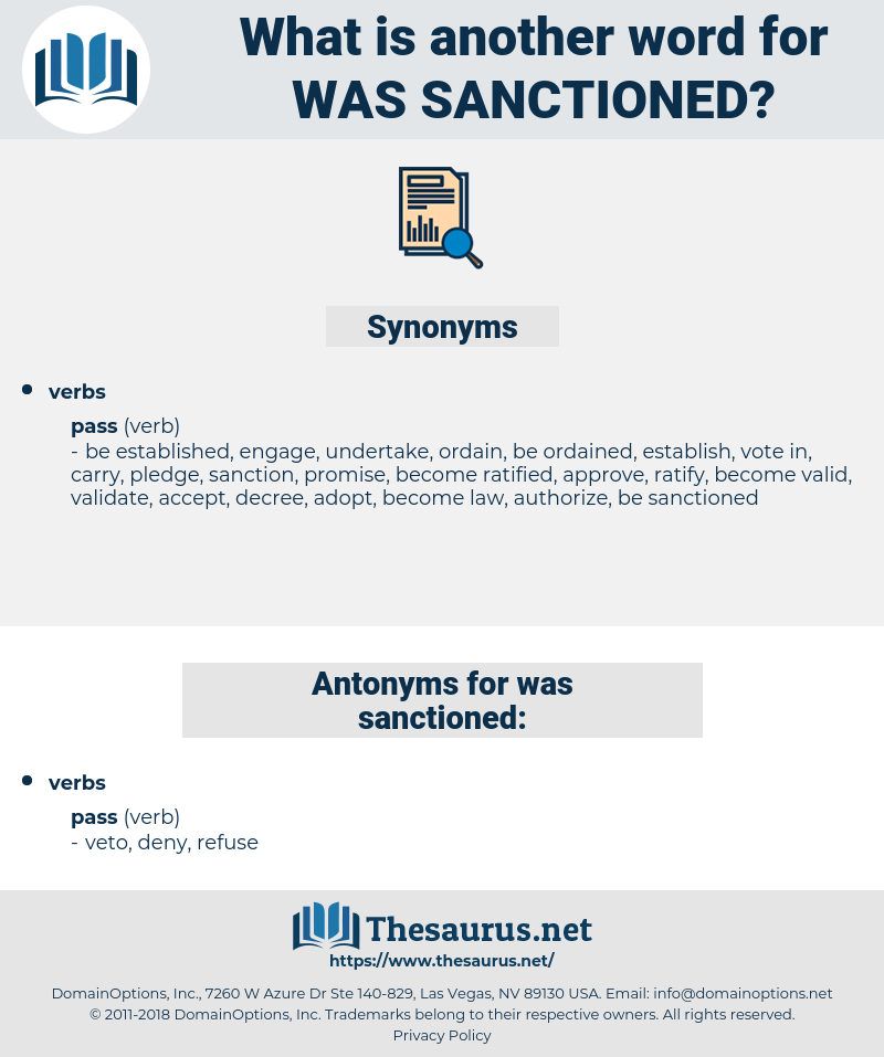 was sanctioned, synonym was sanctioned, another word for was sanctioned, words like was sanctioned, thesaurus was sanctioned