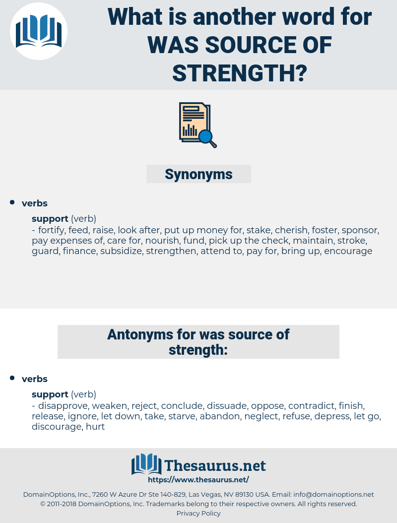 was source of strength, synonym was source of strength, another word for was source of strength, words like was source of strength, thesaurus was source of strength