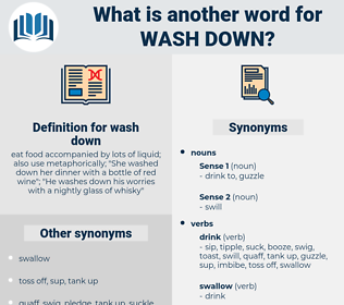 wash down, synonym wash down, another word for wash down, words like wash down, thesaurus wash down