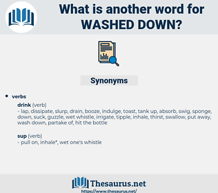 washed down, synonym washed down, another word for washed down, words like washed down, thesaurus washed down