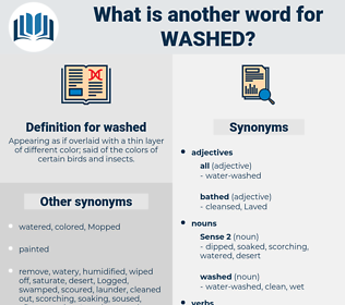 washed, synonym washed, another word for washed, words like washed, thesaurus washed
