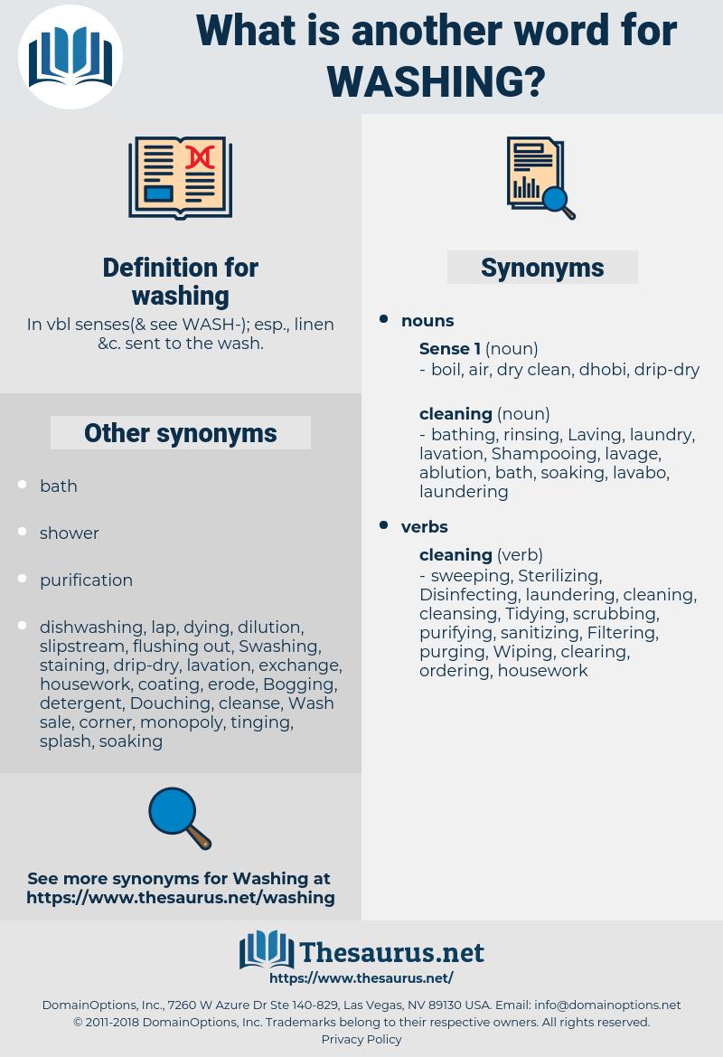 washing, synonym washing, another word for washing, words like washing, thesaurus washing