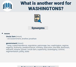 washingtons, synonym washingtons, another word for washingtons, words like washingtons, thesaurus washingtons