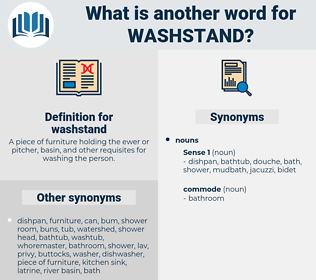 washstand, synonym washstand, another word for washstand, words like washstand, thesaurus washstand
