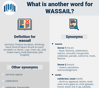 wassail, synonym wassail, another word for wassail, words like wassail, thesaurus wassail