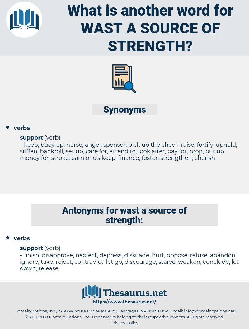 wast a source of strength, synonym wast a source of strength, another word for wast a source of strength, words like wast a source of strength, thesaurus wast a source of strength
