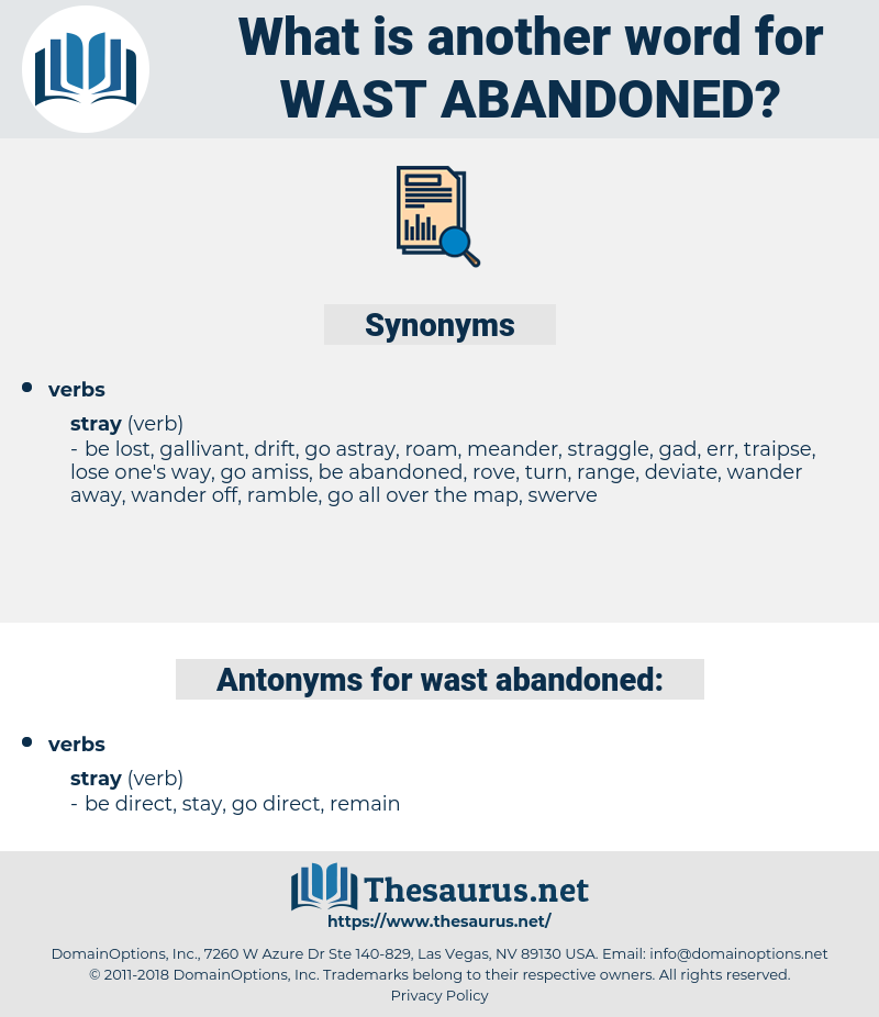 wast abandoned, synonym wast abandoned, another word for wast abandoned, words like wast abandoned, thesaurus wast abandoned