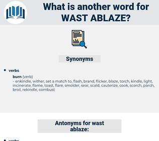 wast ablaze, synonym wast ablaze, another word for wast ablaze, words like wast ablaze, thesaurus wast ablaze