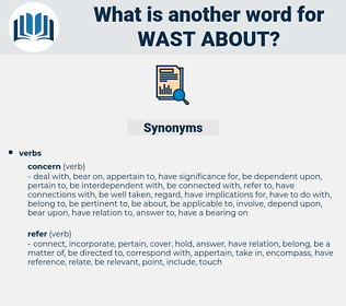 wast about, synonym wast about, another word for wast about, words like wast about, thesaurus wast about