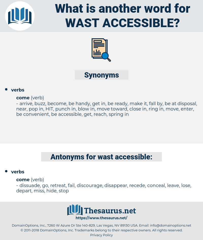 wast accessible, synonym wast accessible, another word for wast accessible, words like wast accessible, thesaurus wast accessible