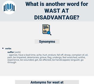 wast at disadvantage, synonym wast at disadvantage, another word for wast at disadvantage, words like wast at disadvantage, thesaurus wast at disadvantage