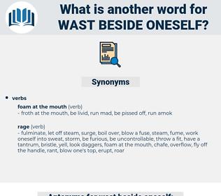 wast beside oneself, synonym wast beside oneself, another word for wast beside oneself, words like wast beside oneself, thesaurus wast beside oneself