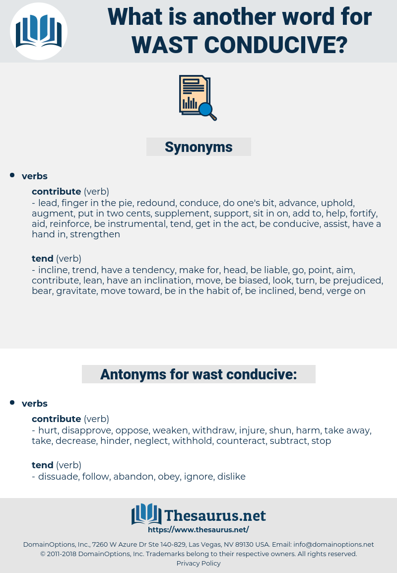 wast conducive, synonym wast conducive, another word for wast conducive, words like wast conducive, thesaurus wast conducive