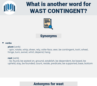 wast contingent, synonym wast contingent, another word for wast contingent, words like wast contingent, thesaurus wast contingent