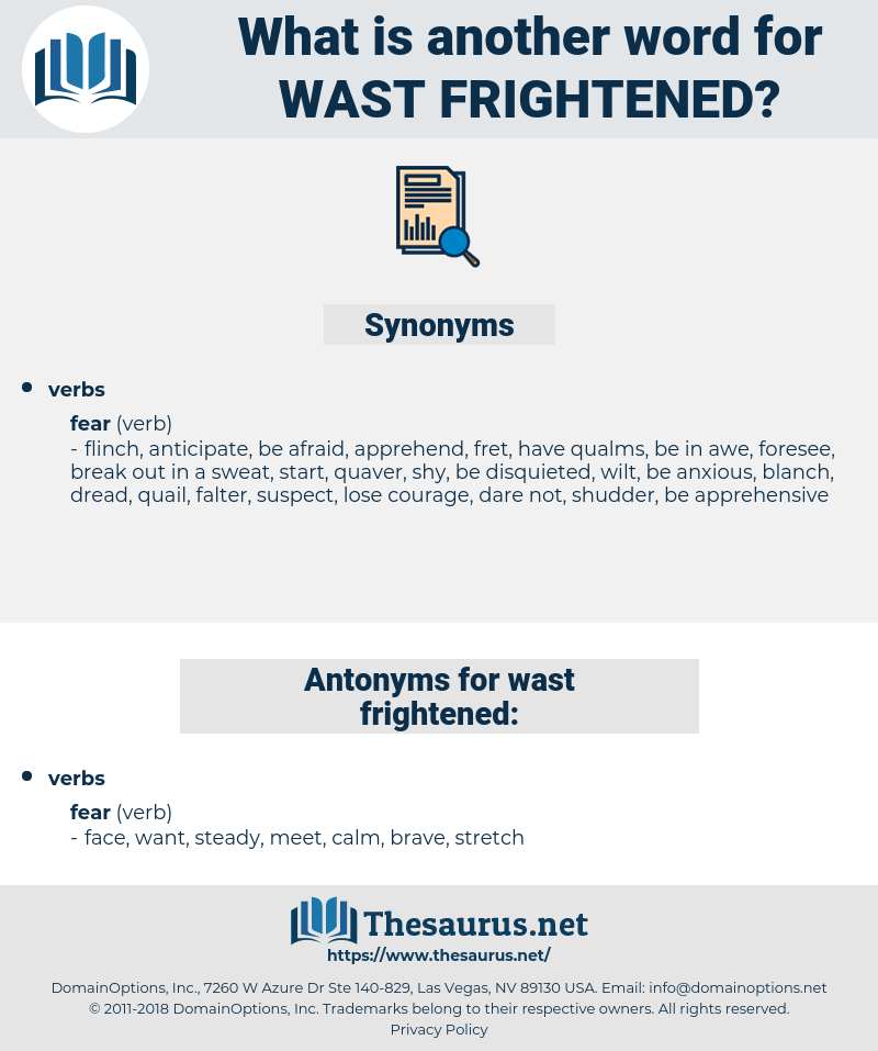 wast frightened, synonym wast frightened, another word for wast frightened, words like wast frightened, thesaurus wast frightened