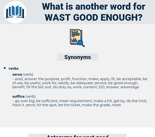 wast good enough, synonym wast good enough, another word for wast good enough, words like wast good enough, thesaurus wast good enough