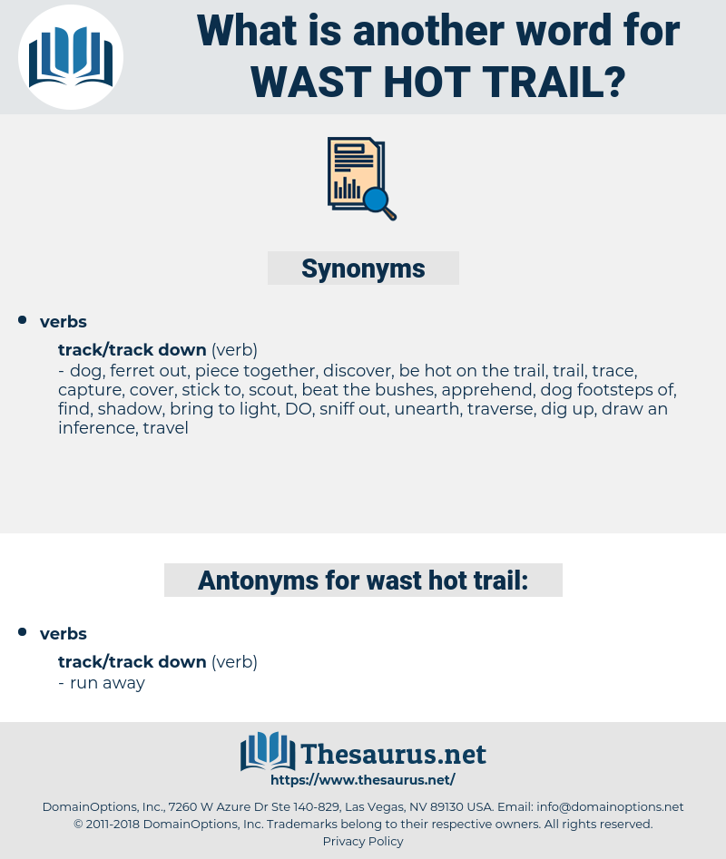 wast hot trail, synonym wast hot trail, another word for wast hot trail, words like wast hot trail, thesaurus wast hot trail
