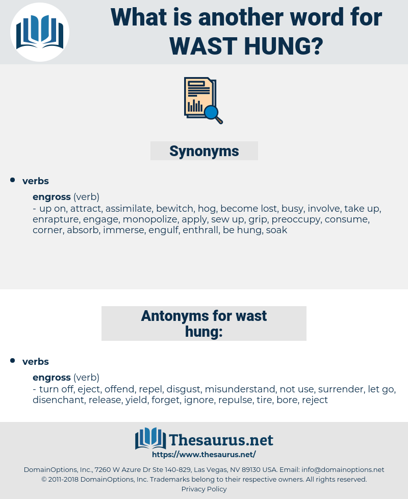 wast hung, synonym wast hung, another word for wast hung, words like wast hung, thesaurus wast hung