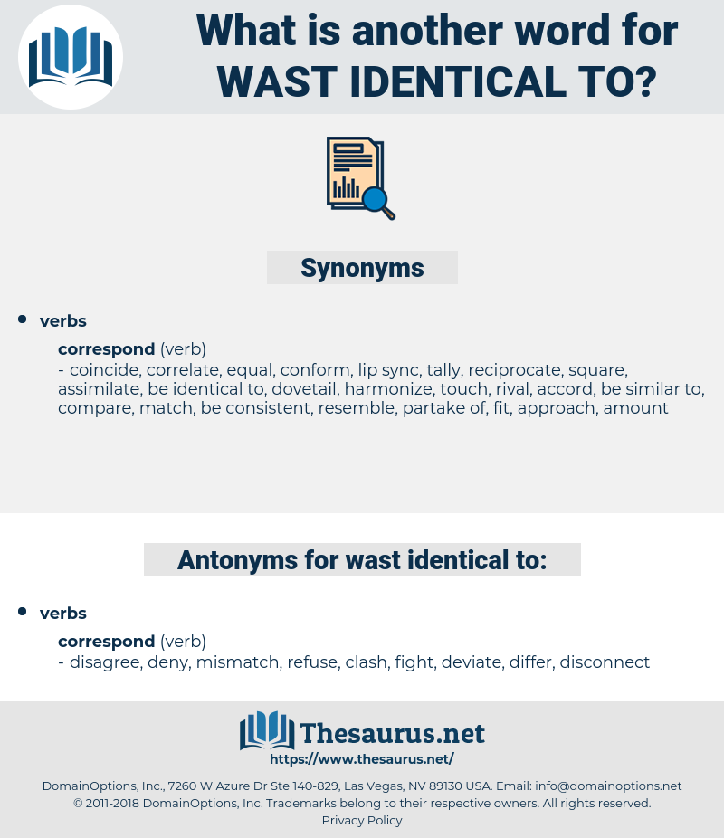 wast identical to, synonym wast identical to, another word for wast identical to, words like wast identical to, thesaurus wast identical to