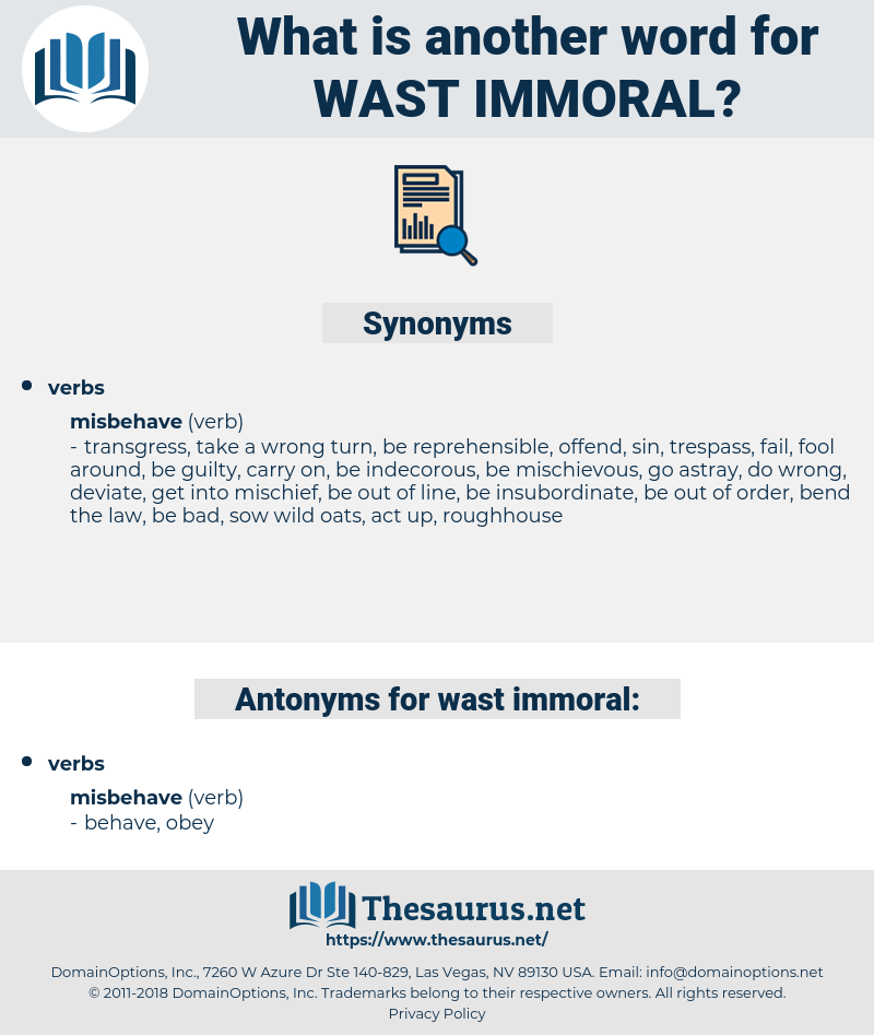 wast immoral, synonym wast immoral, another word for wast immoral, words like wast immoral, thesaurus wast immoral
