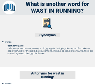 wast in running, synonym wast in running, another word for wast in running, words like wast in running, thesaurus wast in running