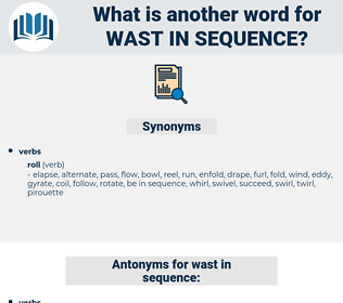 wast in sequence, synonym wast in sequence, another word for wast in sequence, words like wast in sequence, thesaurus wast in sequence