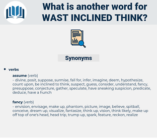 wast inclined think, synonym wast inclined think, another word for wast inclined think, words like wast inclined think, thesaurus wast inclined think
