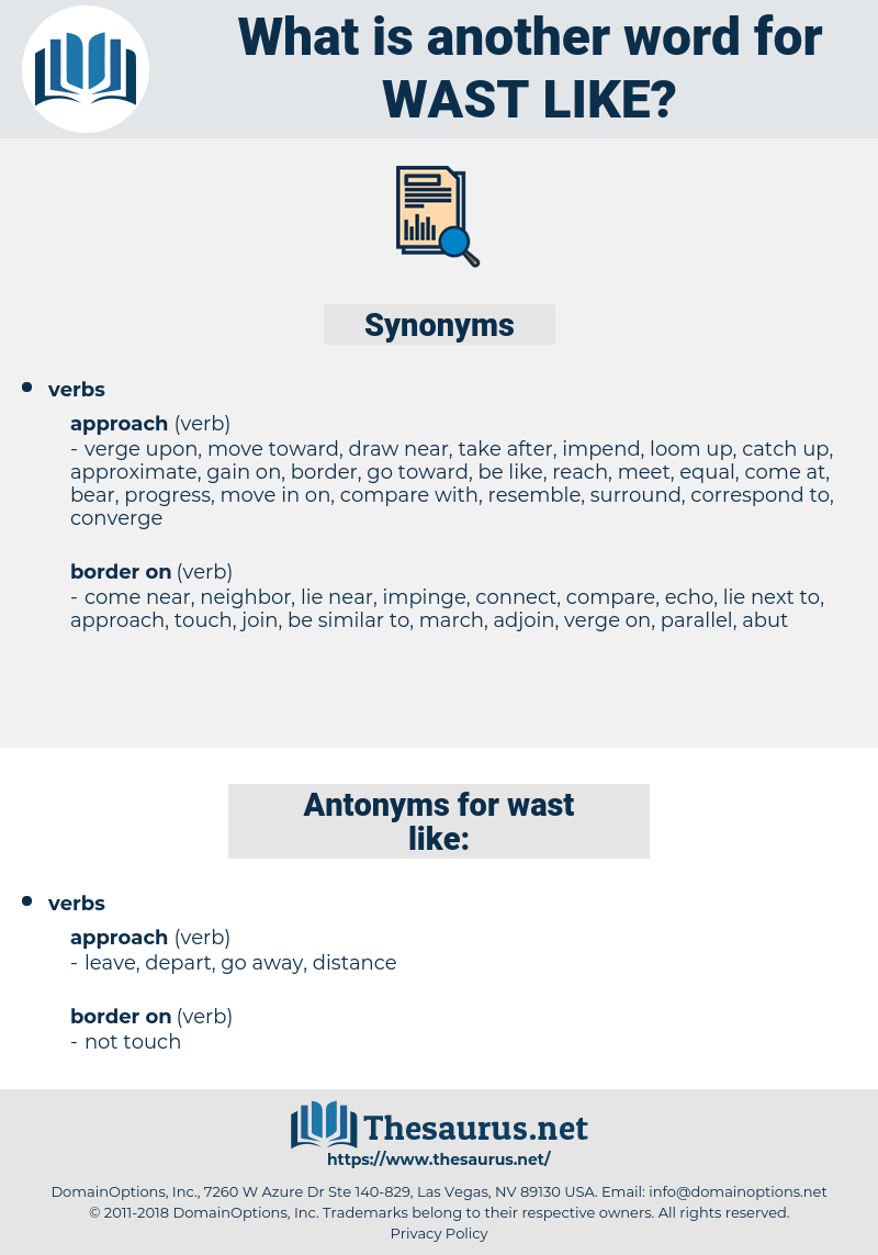 wast like, synonym wast like, another word for wast like, words like wast like, thesaurus wast like