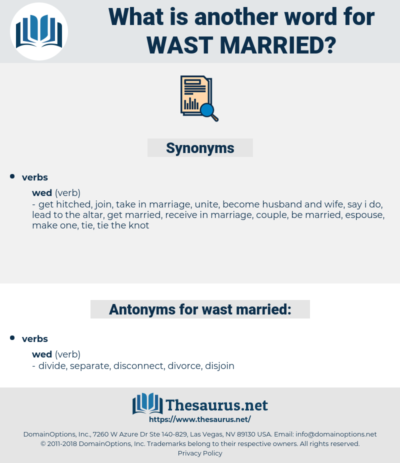 wast married, synonym wast married, another word for wast married, words like wast married, thesaurus wast married