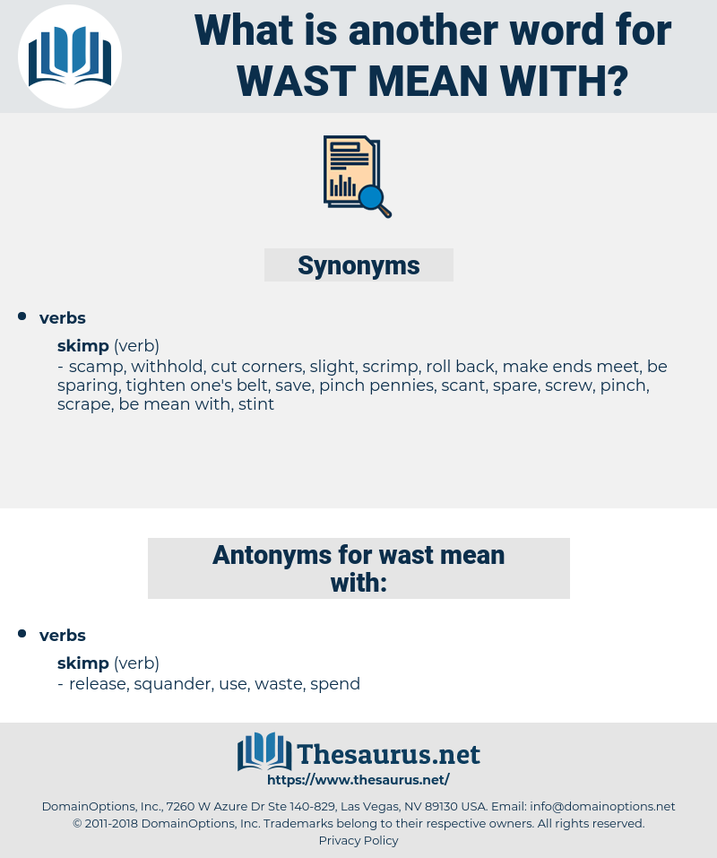 wast mean with, synonym wast mean with, another word for wast mean with, words like wast mean with, thesaurus wast mean with