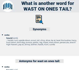 wast on ones tail, synonym wast on ones tail, another word for wast on ones tail, words like wast on ones tail, thesaurus wast on ones tail