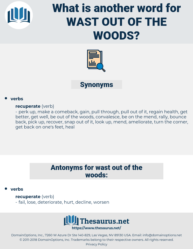 wast out of the woods, synonym wast out of the woods, another word for wast out of the woods, words like wast out of the woods, thesaurus wast out of the woods