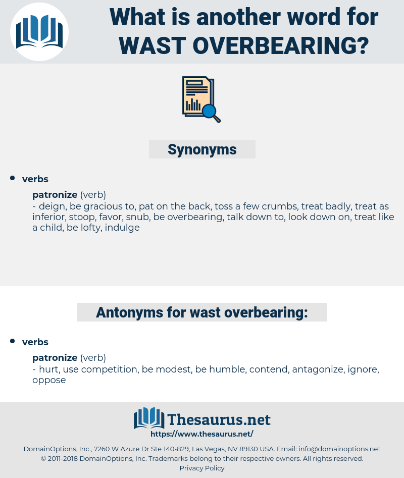 wast overbearing, synonym wast overbearing, another word for wast overbearing, words like wast overbearing, thesaurus wast overbearing