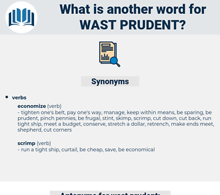 wast prudent, synonym wast prudent, another word for wast prudent, words like wast prudent, thesaurus wast prudent