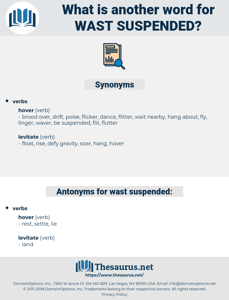 wast suspended, synonym wast suspended, another word for wast suspended, words like wast suspended, thesaurus wast suspended