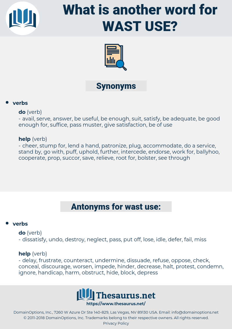 wast use, synonym wast use, another word for wast use, words like wast use, thesaurus wast use