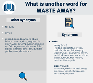 waste away, synonym waste away, another word for waste away, words like waste away, thesaurus waste away