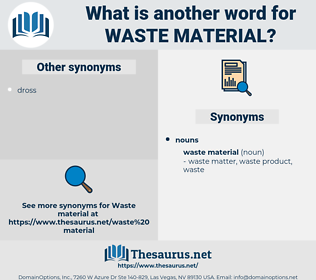 waste material, synonym waste material, another word for waste material, words like waste material, thesaurus waste material