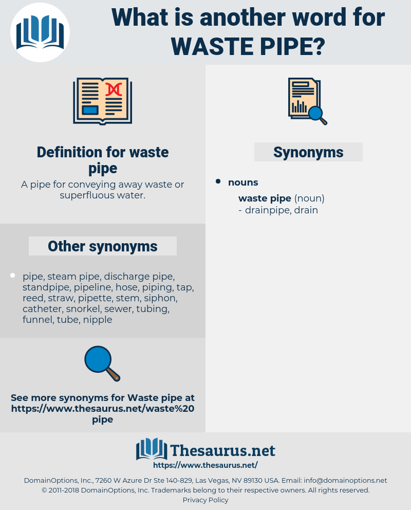 waste pipe, synonym waste pipe, another word for waste pipe, words like waste pipe, thesaurus waste pipe