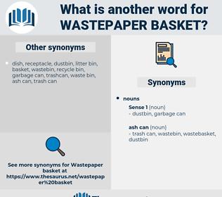 wastepaper basket, synonym wastepaper basket, another word for wastepaper basket, words like wastepaper basket, thesaurus wastepaper basket
