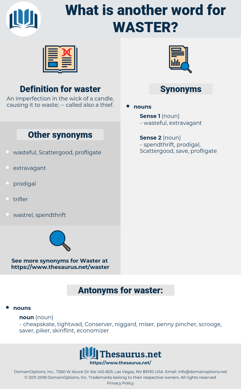 waster, synonym waster, another word for waster, words like waster, thesaurus waster