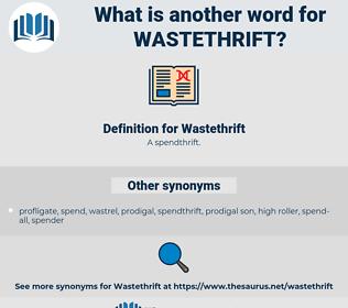 Wastethrift, synonym Wastethrift, another word for Wastethrift, words like Wastethrift, thesaurus Wastethrift