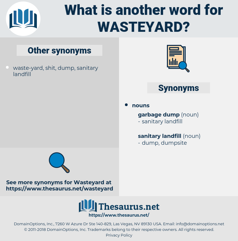 wasteyard, synonym wasteyard, another word for wasteyard, words like wasteyard, thesaurus wasteyard