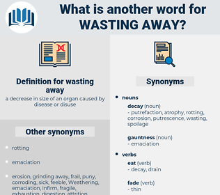 wasting away, synonym wasting away, another word for wasting away, words like wasting away, thesaurus wasting away
