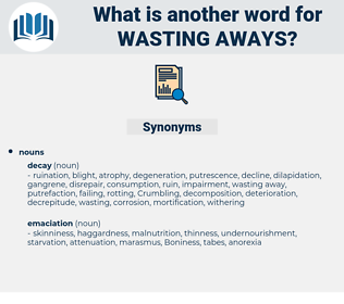 wasting aways, synonym wasting aways, another word for wasting aways, words like wasting aways, thesaurus wasting aways